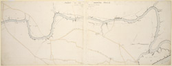 Sketch map of the Barna river from Garstin's bridge to the Old Fort, Benares